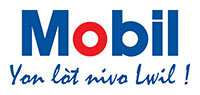 Mobil logo+tag line